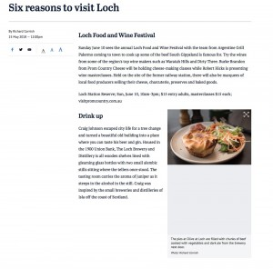 SMH article on Loch